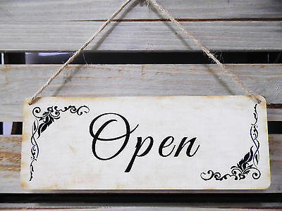 Open/closed Double Sided Vintage Style With Black Text Retail/shop Window Sign
