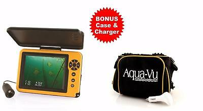 Aqua-Vu AV 5 Plus DVR-DT Depth & Temperature Fishing Camera BONUS Case & Charger