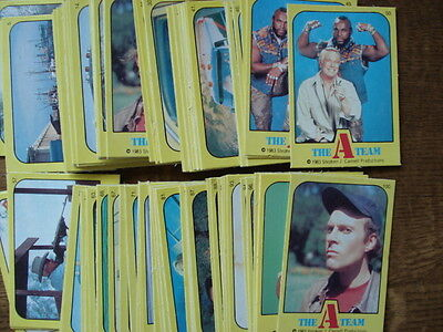 Monty Gum Complete Set Of 100 Cards Of The A -Team