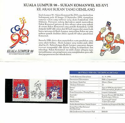 Malaysia 1995 16th Commonwealth Games Stamp Pack MNH