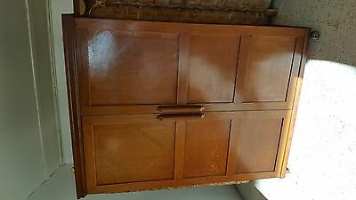 Lovely Old Vintage Solid Oak Wardrobe Cupboard *courier Available*