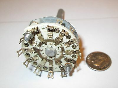 Ceramic Rotary Switch * Shorting *  5 Pole - 3 Positions Centralab   Nos  1 Pcs.