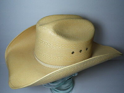 e445283dd VINTAGE LARRY MAHAN HAT COLLECTION Milano Hats Co STRAW COWBOY Size 7-1/8