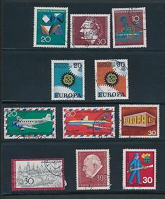 1966 - 1971 Germany VARIOUS ISSUES - 34 ALL DIFFERENT; USED