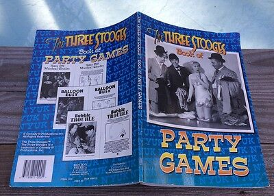 1997 HTF THREE STOOGES Party Book COLLECTIBLE Compiled by Matt Kavet