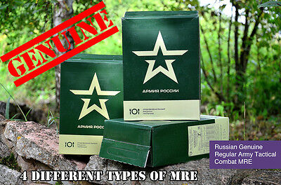 Real Russian Mre Army Emercom Police Fsb Food Daily Ration 4 Types Meal Imp Sos