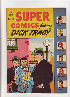 Super Comics #104 VF/NM 1947 Dell File Copy Dick Tracy glossy guide $76