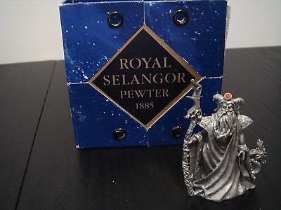 selangor pewter figurine quest sorcerer with dragon