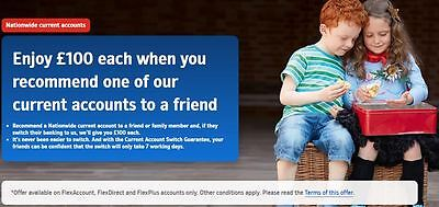 £110 free when you change your Current Account to Nationwide - Refer a Friend