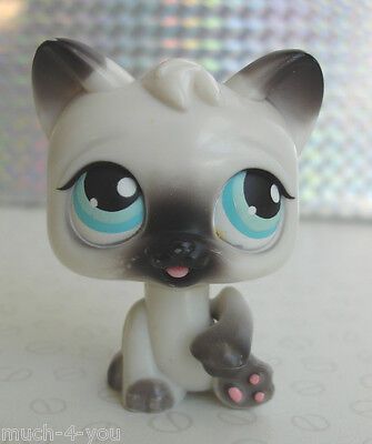 Hasbro Littlest Pet Shop - Magic Motion White Grey Persian Cat Sticks Tongue Out