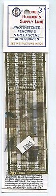 Model Builder's Supply 61045 Random Stick Fence kit  Etched Brass - N scale