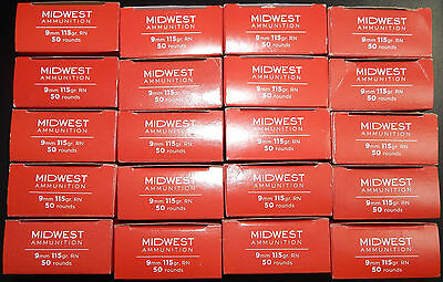 1000 Rounds Midwest 9MM Empty Ammo Boxes With Plastic Trays FREE SHIPPING