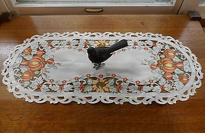 "Embroidered Autumnal PUMPKIN PATCH 16"" x 36"" Table Runner"