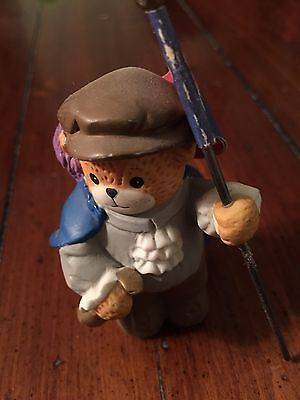 Lucy & Me Enesco Bear Christopher Columbus Figurine Lucy Rigg 1991