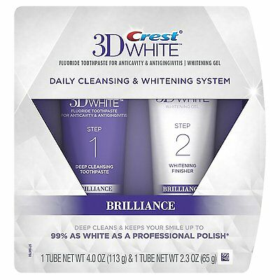 Crest 3D White Brilliance Daily Cleansing Toothpaste & Whitening Gel System