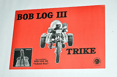 BOB LOG III TRIKE two sided PROMO POSTER fat possum doo rag boss hog