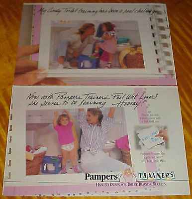 1995 Pampers Trainers Diaper Ad Cute Little Girl Feel Wet Liner #062216
