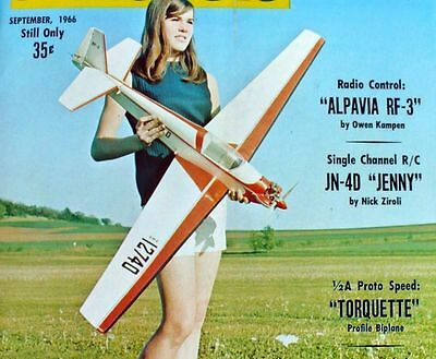 Vintage ALPAVIA RF-3 RC Powered Sailplane Model Airplane PLAN + BuildingArticle