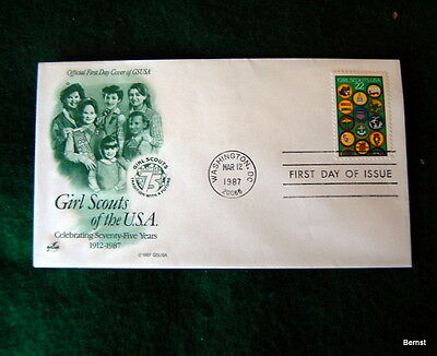 VINTAGE  GIRL SCOUT - 1987 75th ANNIVERSARY - FIRST DAY COVER