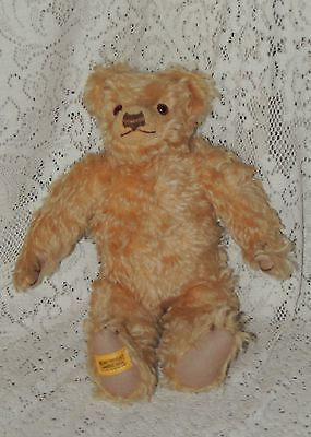 "Merrythought Teddy Bear 15 "" BROWN/GOLDISH GROWLER Mohair Made in England"