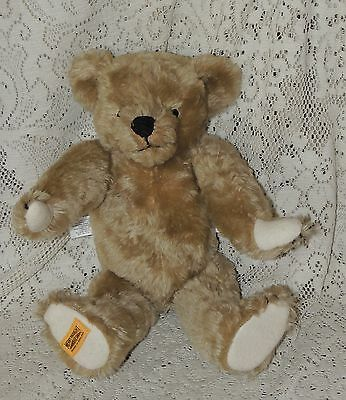 "MERRY THOUGHT  Teddy Bear 14 "" BROWN/TAN Mohair ...LOOK"