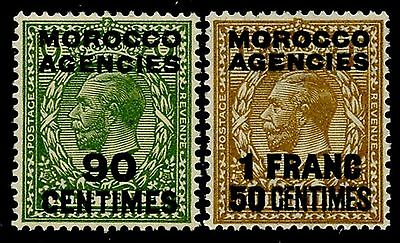 MOROCCO AGENCIES  Sc#420-1 SG#209,211 1934 ovpts. Mint NH