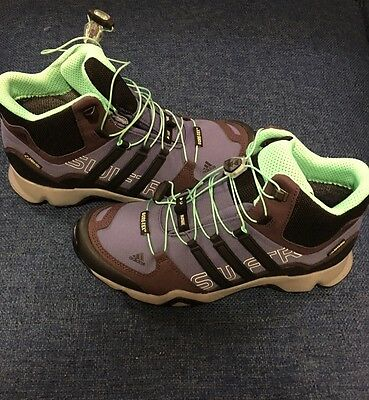 ADIDAS Women's Outdoor Terrex Swift R Mid GTX Hiking Boots SIZE 8.5 (AF6108)