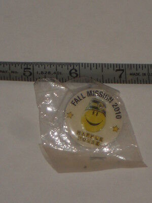 "Hard To Find Waffle Fall Mission 2010 Uniform Pin/button  1 1/4"" Nip"