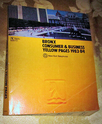 1983 Bronx New York City Yellow Pages Telephone Book
