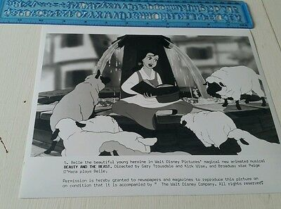 BEAUTY AND THE BEAST Walt Disney ANIMATION press release photo MINT cond.