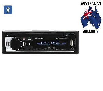 One DIN Bluetooth Car Stereo 4x 60W Speaker Support, Front Aux In, USB + SD Card