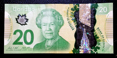 ***Canada Clean circulated  20 Dollars  banknote paper money***
