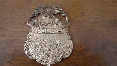 Milwaukee Police Department  Badge Blanks One  Brass Blank  Obsolete