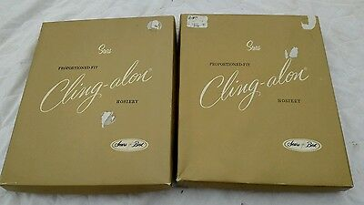 Two Boxes Vintage Sears Cling-Alon Hosiery