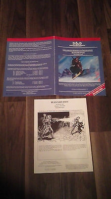 Bs1 Blizzard Pass  D&d Tsr Dungeons & Dragons