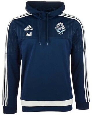 Adidas Vancouver Whitecaps Pullover Travel Hoody Hoodie Jersey Large L MLS