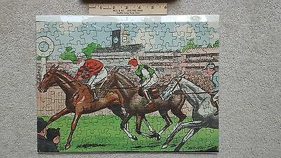Vintage Welcom Jigsaw Puzzle 1930's? England A Racing Problem Horse Equestrian