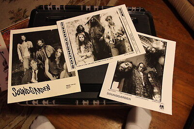 SOUNDGARDEN Rare EARLY Promo Photo (Lot of 3) Sub Pop SST A&M Chris Cornell WOW!