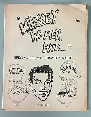 Rare Usa Blues Fanzine - Whiskey Woman And (February 1973) Rare Early Issue