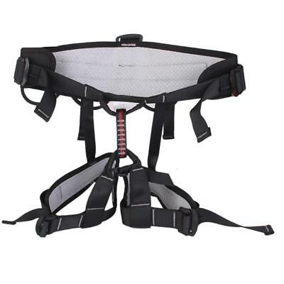 Safety Rock Tree Mountain Climbing Rappelling Harness Belt Equipment Black