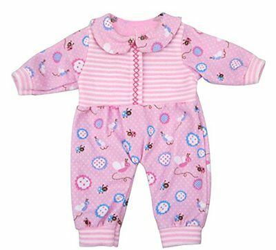 ebuddy Ebuddy Pink Flower Printed Rompers Suit Doll Clothes For 16 Inche High