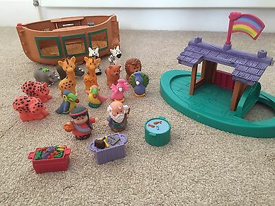 noahs ark toy with figurines