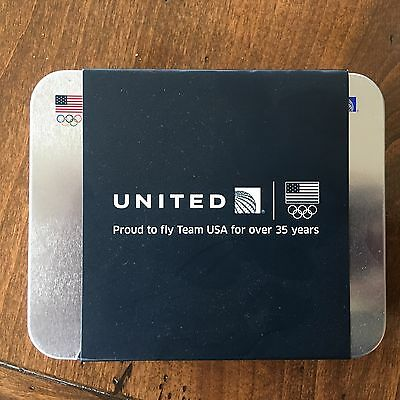 United Airlines Business Amenity Kit Tin 2016 Olympics Team USA Edition