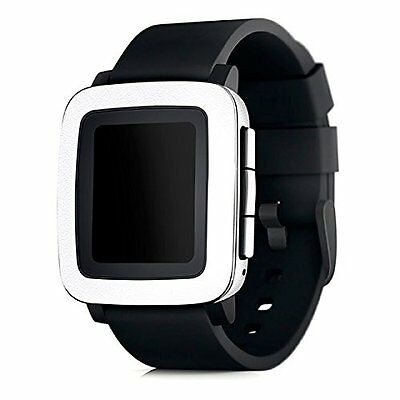 WONDERFUL WHITE Wrap Skin Screen Protector Accessories for PEBBLE TIME / STEEL