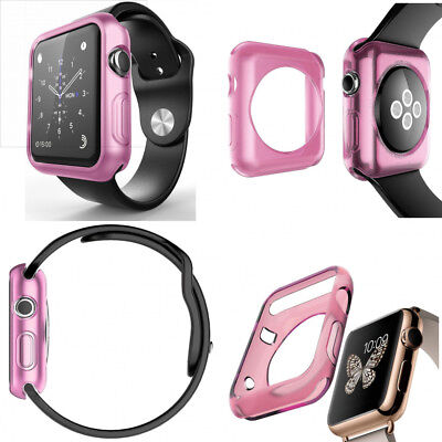 PRETTY PINK New Cover Protector Sleeve Case Bumper For iWatch 38MM APPLE WATCH 1