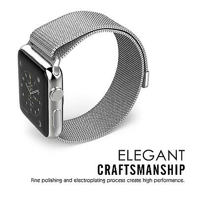 SILVER STEEL MESH Wristband Strap Band Bracelet For iWatch 38MM APPLE WATCH