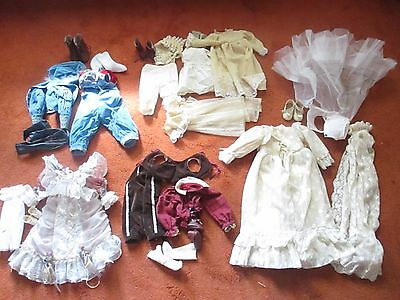 Lot Of 5 Vintage Doll Outfits/Dresses Various Sizes And Ages