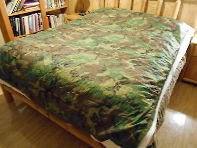 U.S. Military Wet Weather Poncho Liner/Ground Cloth, Woodland Camo