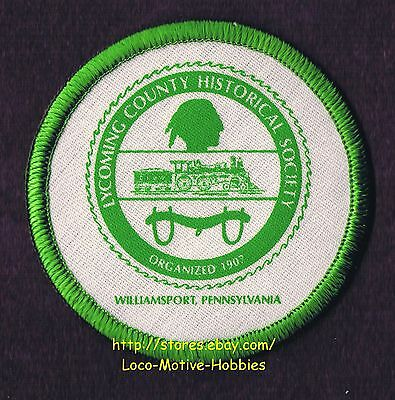 """LMH PATCH Badge  LYCOMING COUNTY HISTORICAL SOCIETY  Museum Library Archives  3"""""""