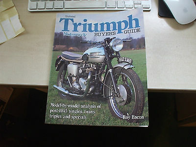 Classic Triumph Motorcycle Buyers Guide Book Manual Roy Bacon Tiger Bonneville